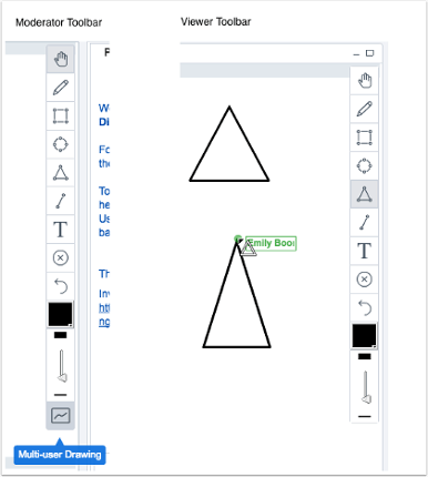 picture showing the new shared whiteboard in canvas conference