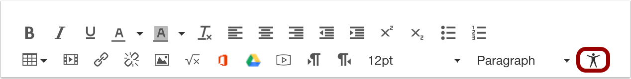 picture of the accessibility checker icon