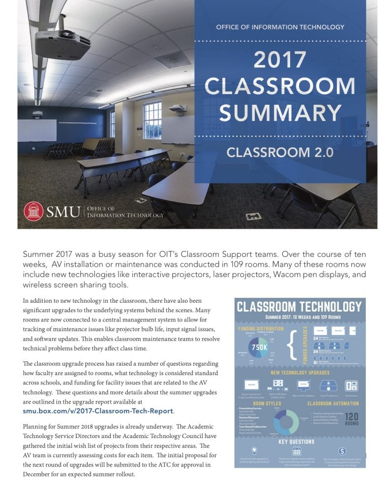 2017 OIT Classroom Summery Report Cover