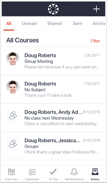 picture showing canvas mobile inbox
