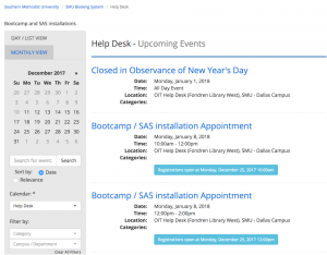 IT Help Desk Appointment Schedule