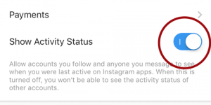 Instagram Activity Status On