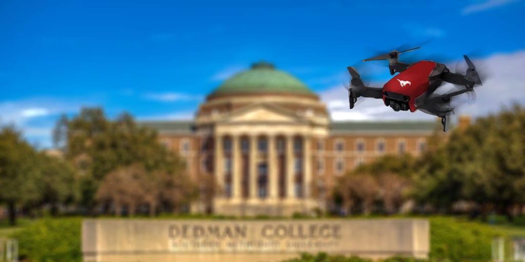 Drone over Dallas Hall