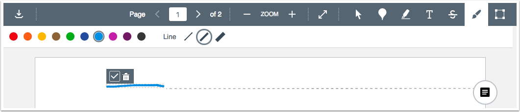 picture that shows the new stroke width annotation feature in canvas speedgrader