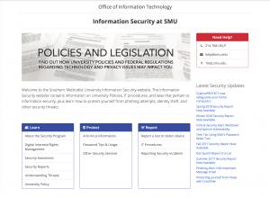 Information Security at SMU