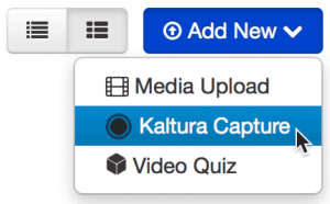 New Kaltura Capture