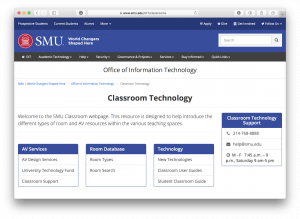 OIT Classroom Technology Homepage