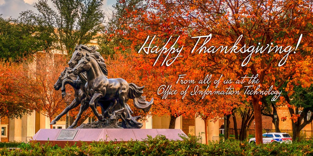 Happy Thanksgiving from OIT!