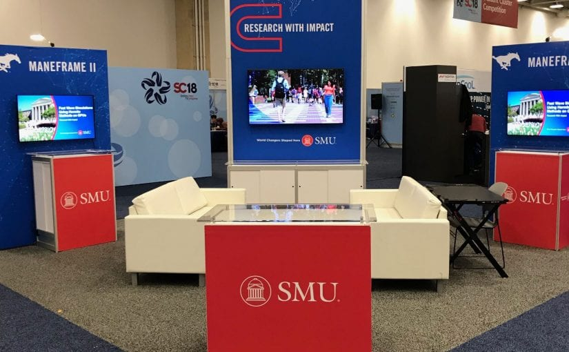 SMU's booth at SC2018