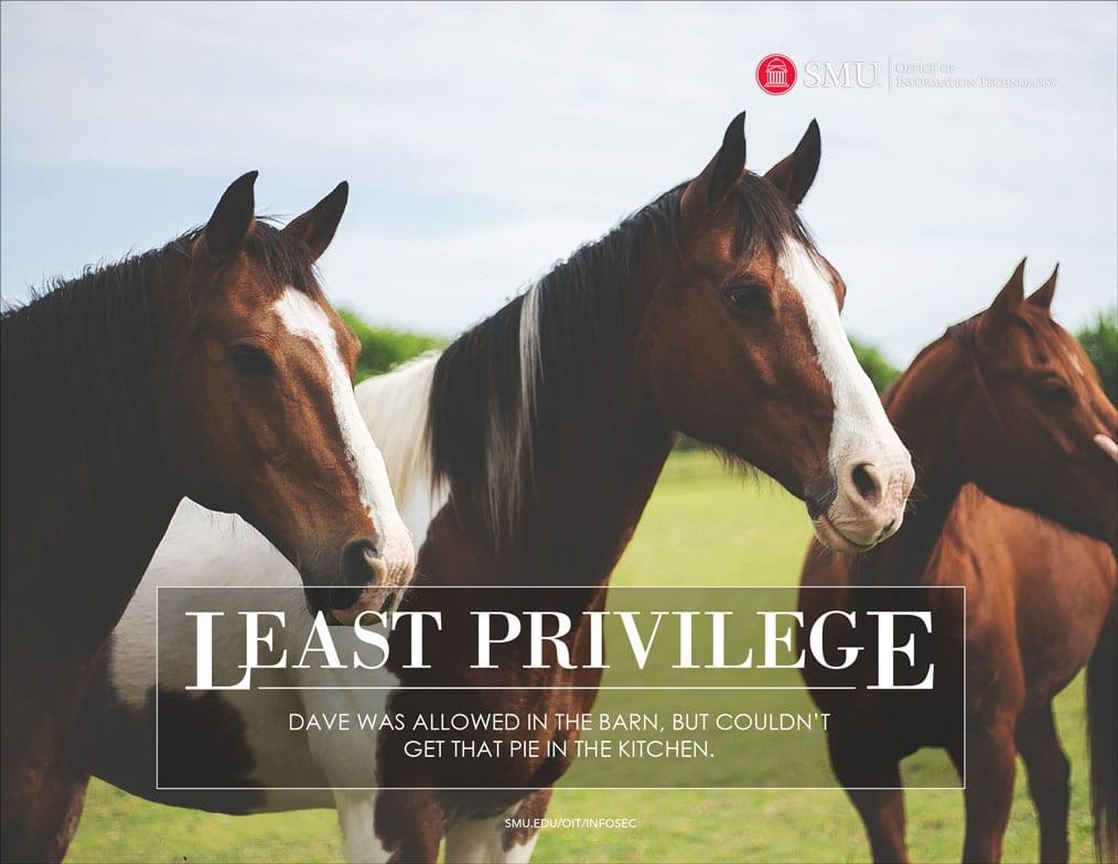 SMU OIT 2019 Calendar Least Privilege