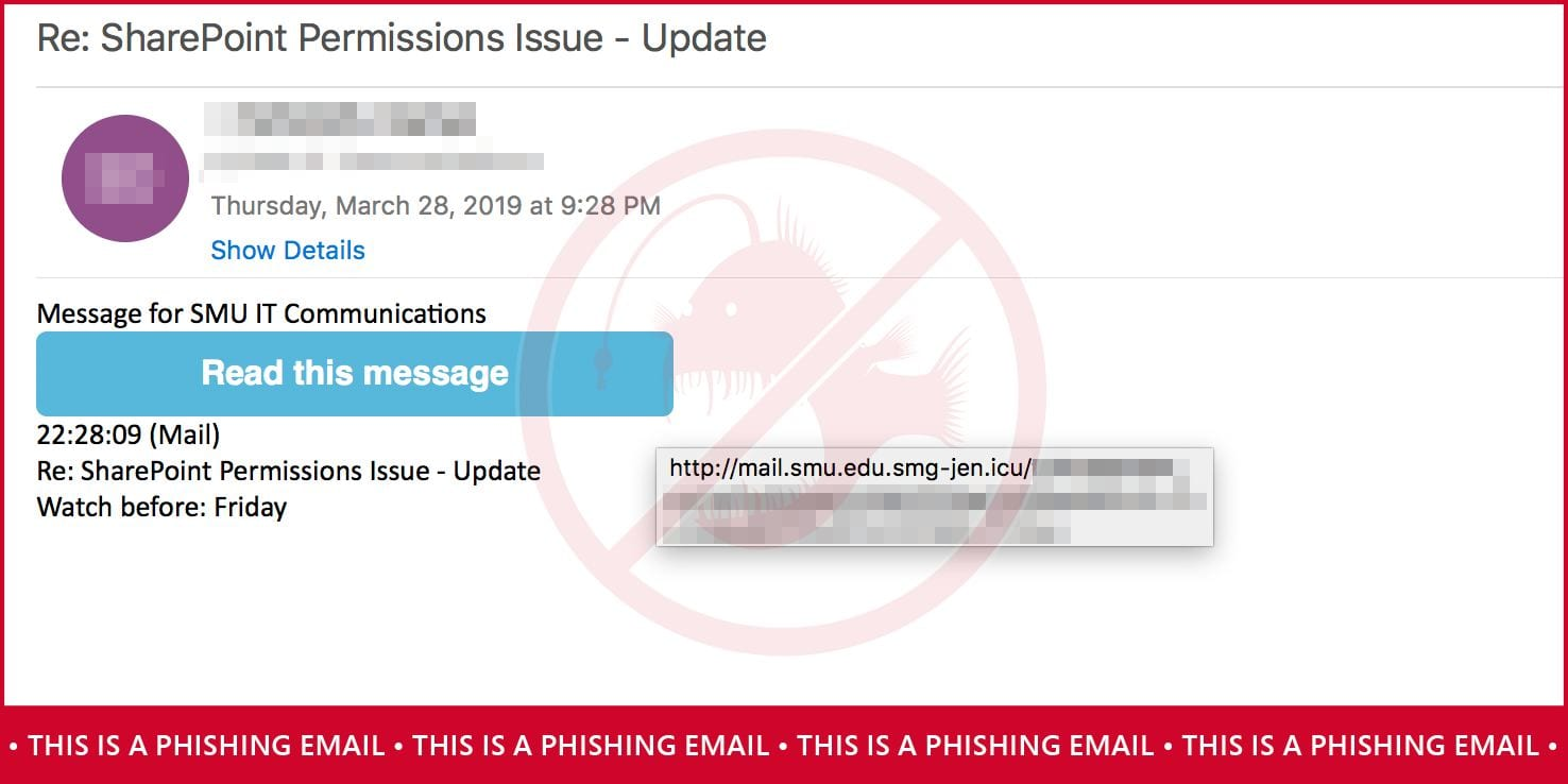 Read this message phishing email