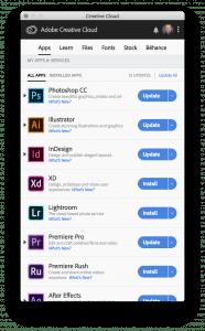 Adobe Apps Window