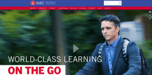 A screenshot of the SMU PRO website.