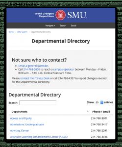 Departmental Directory