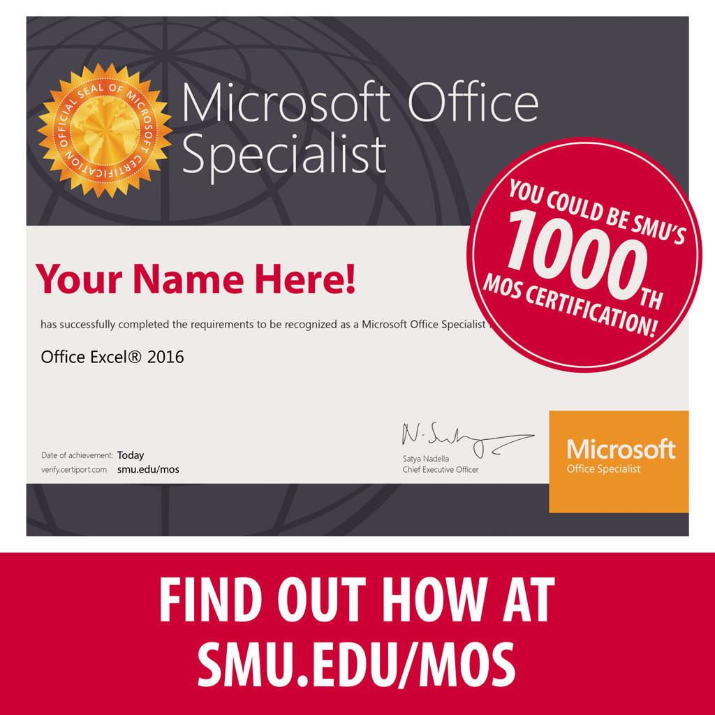 mos certification smu
