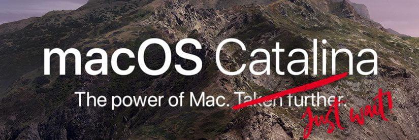 Just wait to upgrade to macOS Cantalina