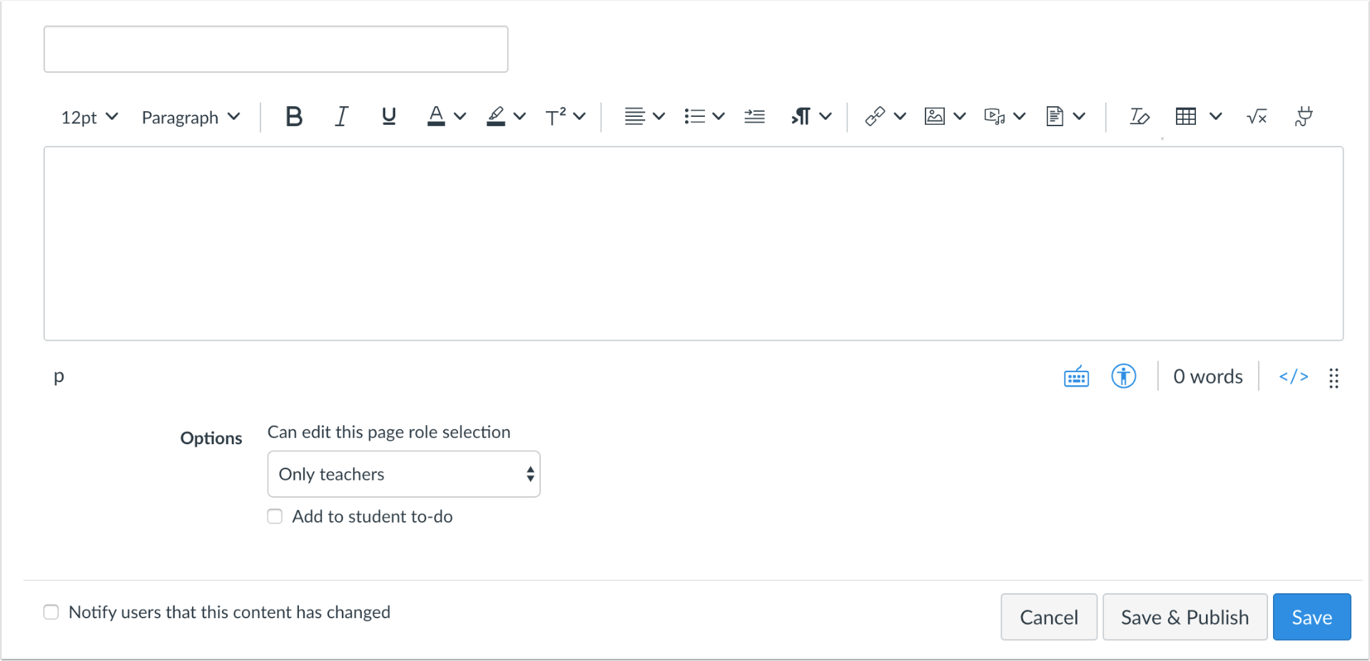 picture showing the new RCE in Canvas