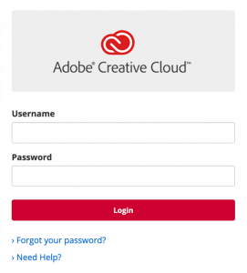 Adobe Single Sign-On dialog