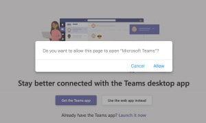 Launch MS Teams window