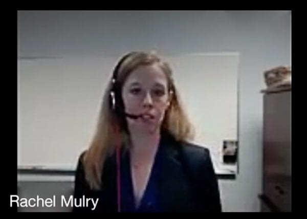 Rachel Mulry on Zoom Meeting