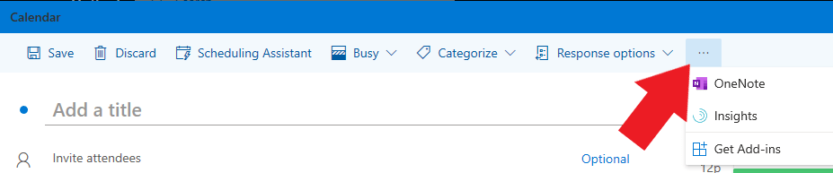 A screenshot of the Get add-ins option in Outlook webmail.