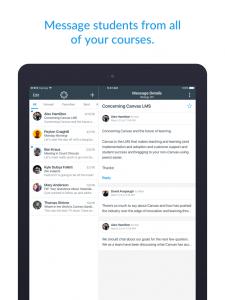 Canvas Teacher App on an iPad