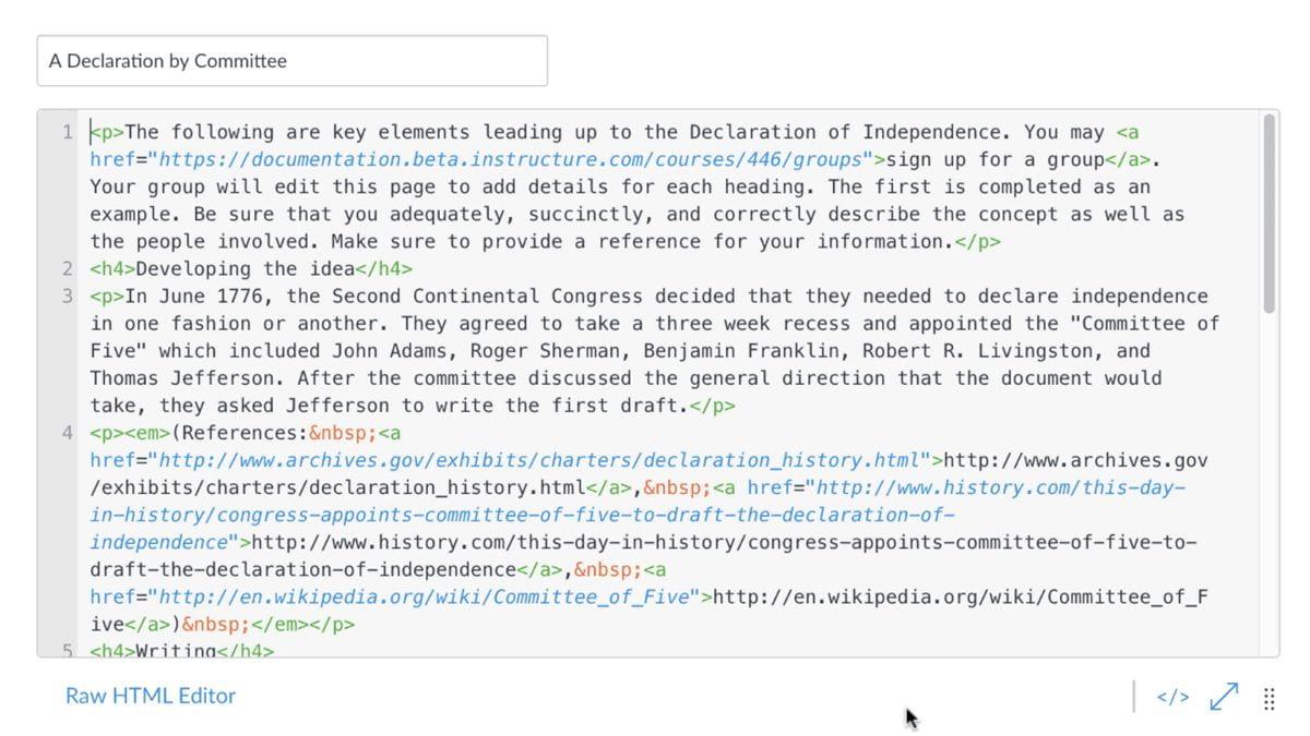 Canvas LMS Pretty HTML Editor