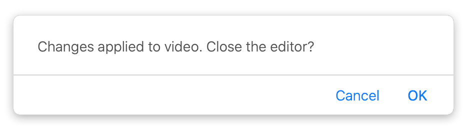 Panopto Close Editor Pop-up window