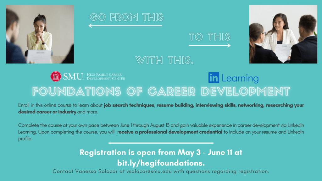 Foundation of Career Development flyer