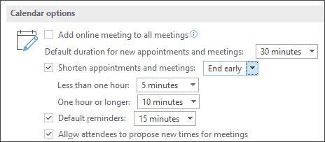 Make all your events shorter screenshot