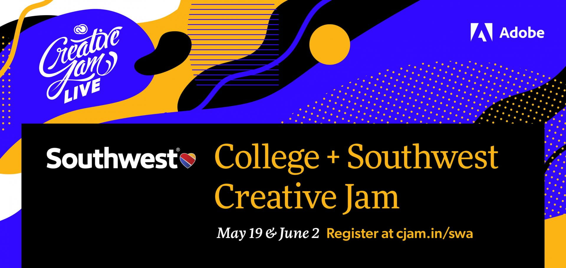 College + Southwest Airlines Creative Jam LIVE with Adobe XD