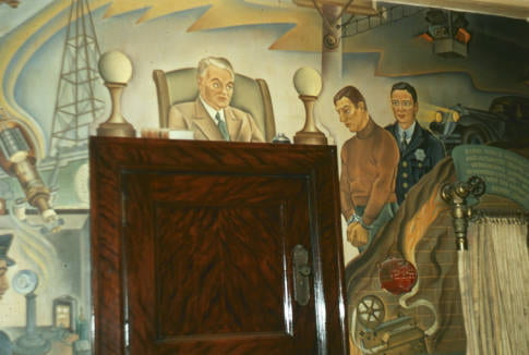 Lost Bywaters and Hogue Murals Uncovered at Dallas' Old Municipal Building