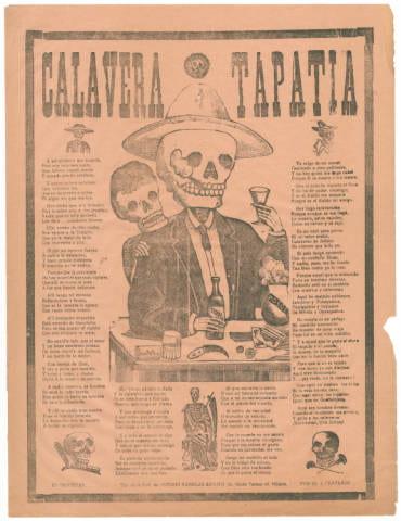 Calavera Tapatia by Jose Guadalupe Posada