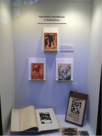 Display at the Harwood Museum about Laughing Horse