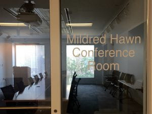 Mildred Hawn Conference Room.