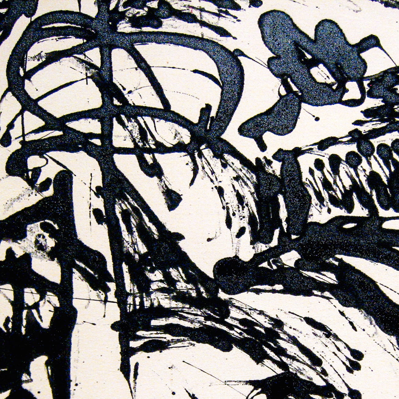 Detail from Echo: Number 25, 1951 by Jackson Pollock.