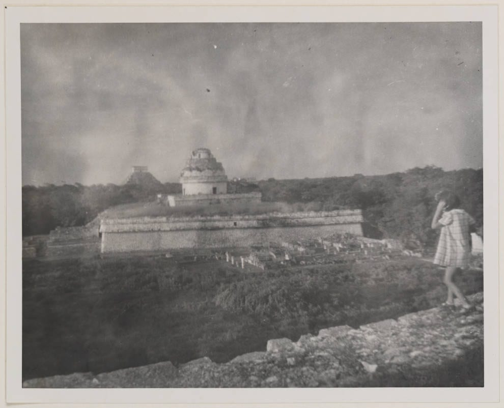 Patsy overlooking Mayan Temples and Ruins, Chichen Itza