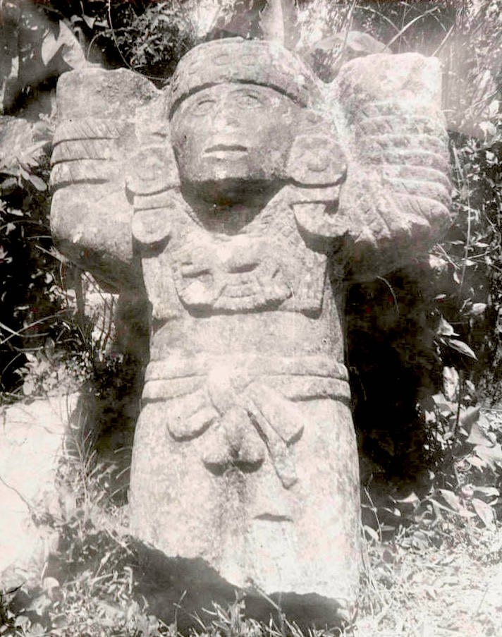 Octavio Medellin: Maya-Toltec Temples and Carvings, 1938 on display