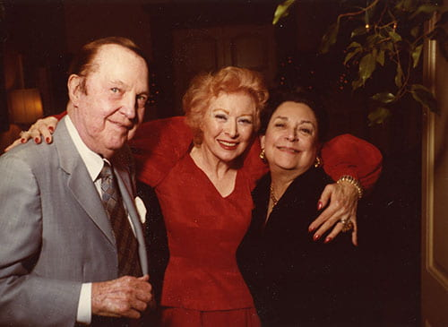Jake Hamon, Greer Garson, and Nancy Hamon.