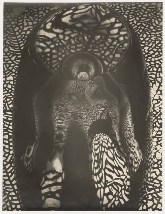2)Carlotta Corpron (American, 1901-1988), A Figure Arose From Coral and Glass, 1949. Gelatin silver print. Otis and Velma Davis Dozier Collection, Jerry Bywaters Special Collections, Hamon Arts Library, Southern Methodist University.