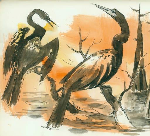 DeForrest Judd, Sketches of Texas Regions – Big Bend, Caddo Lake, Gulf Coast