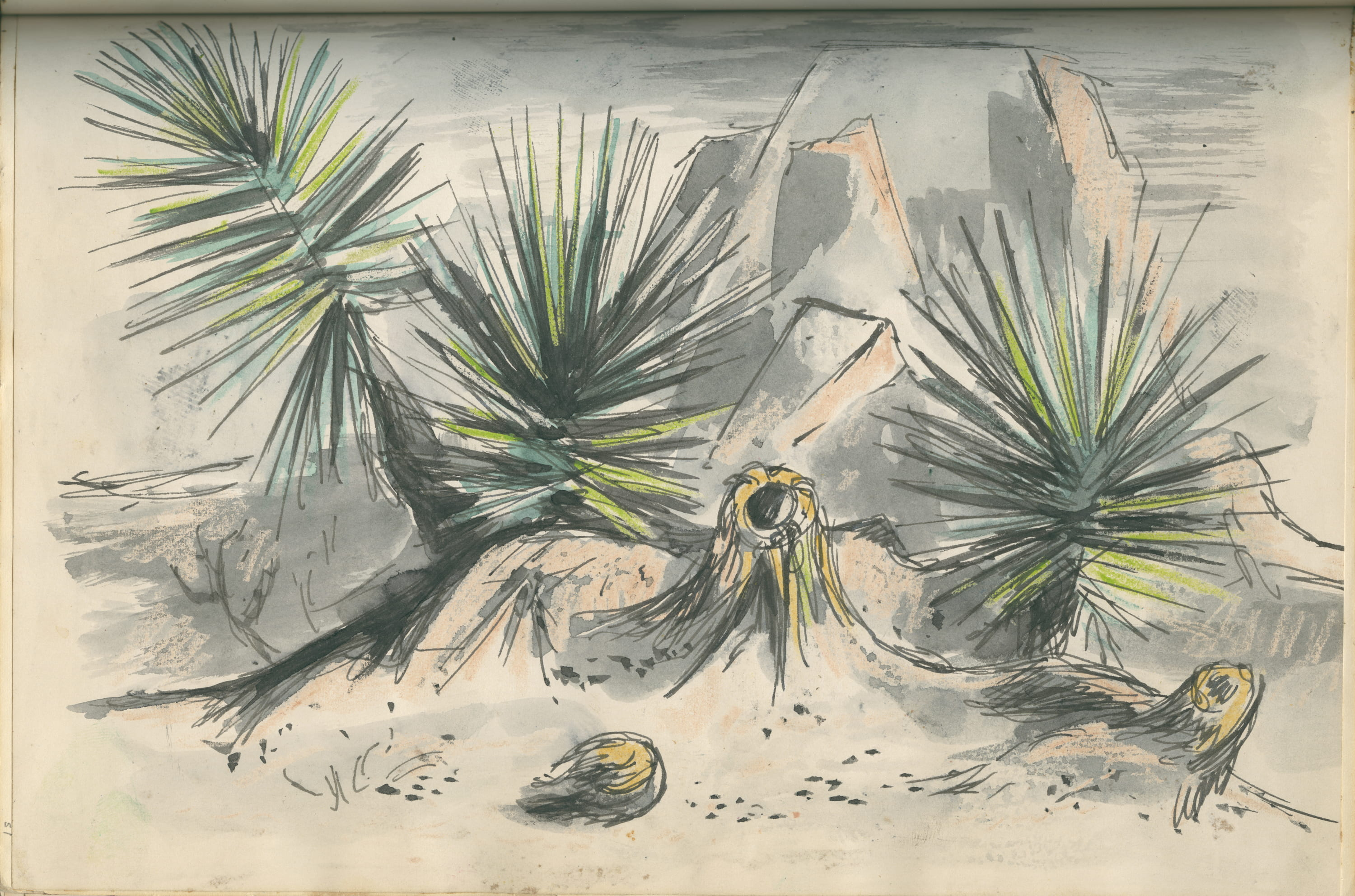 New online exhibition from Hamon's Bywaters Special Collection: DeForrest Judd Sketches