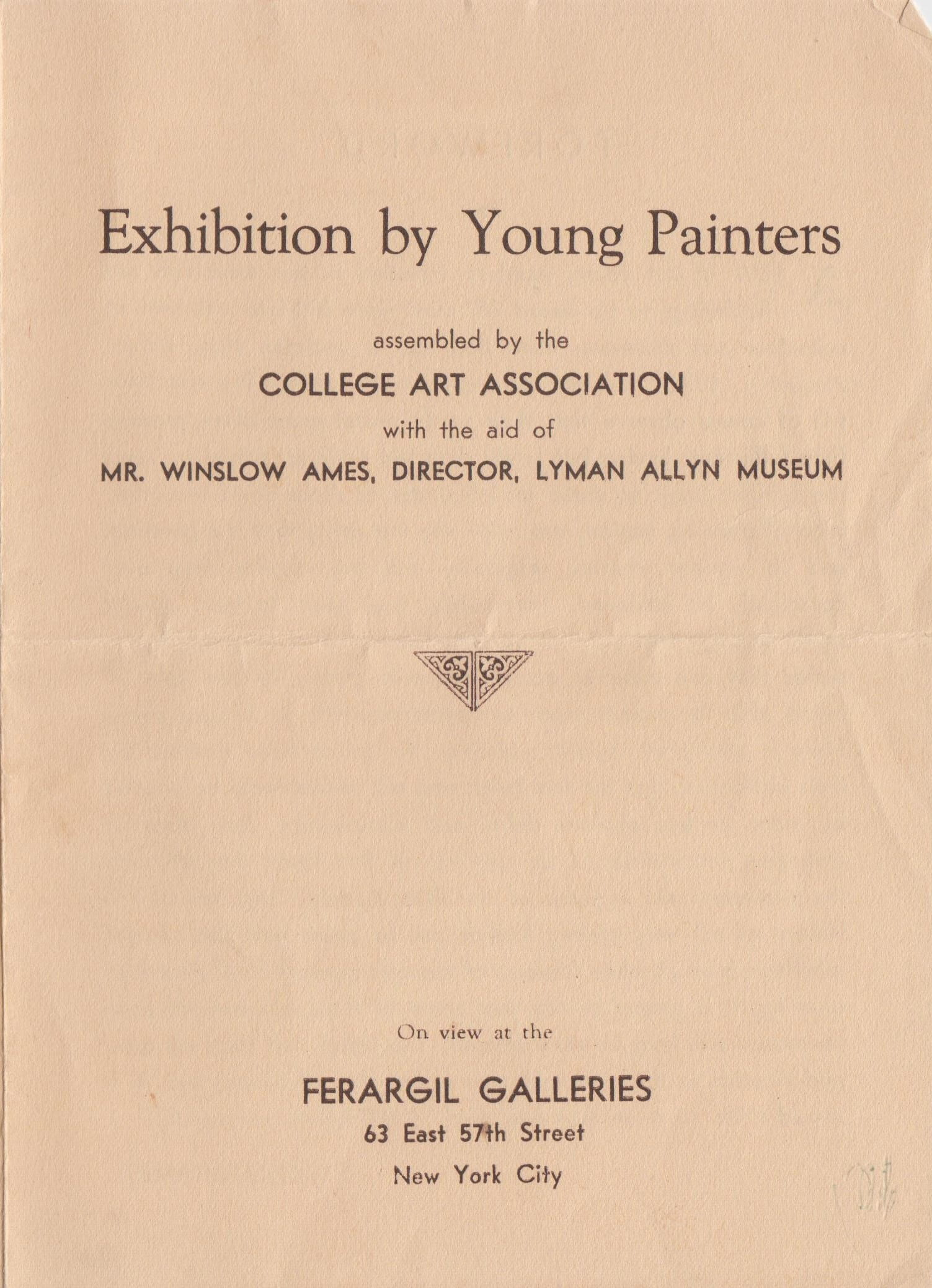 Discovery in the Bywaters' Archive: 1932 Exhibition by Young Painters