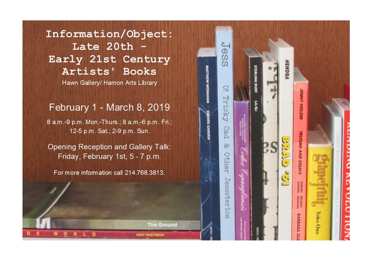 Hawn Gallery presents: Information/Object: Late 20th-Early 21st Century Artists' Books