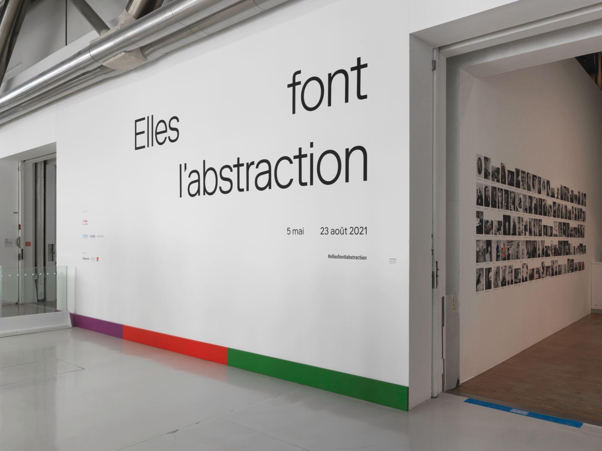 Elle font l'abstraction_exhibition entrance