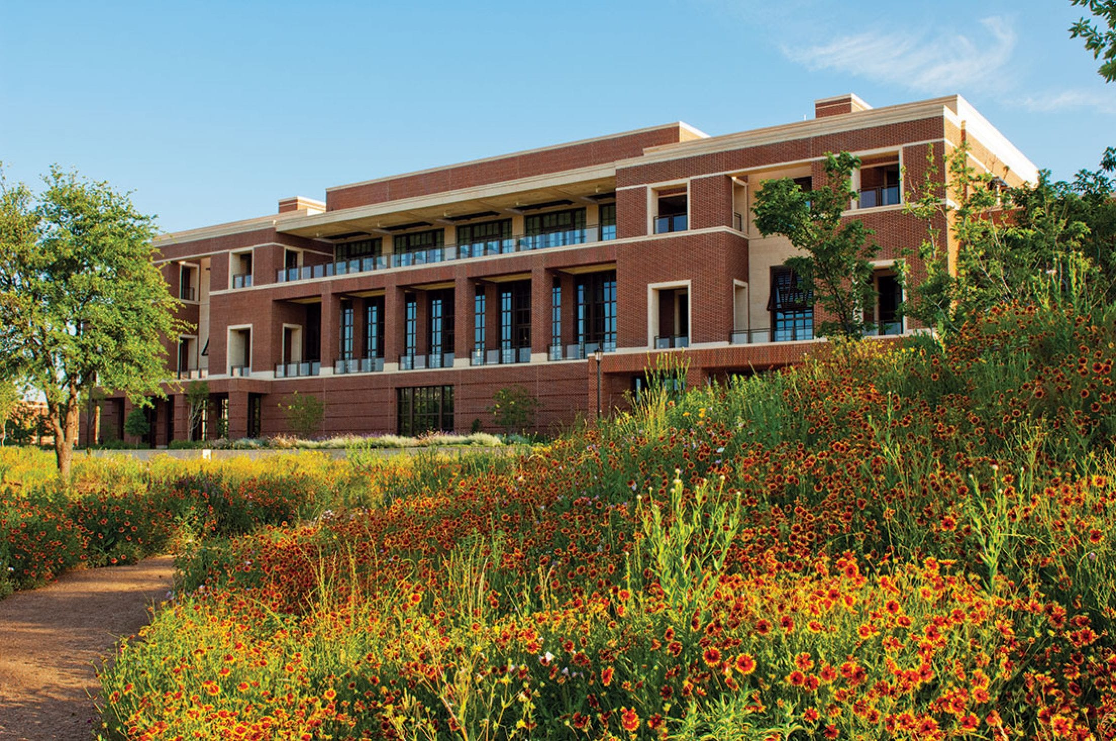 The Bush Presidential Center features a 15-acre urban garden featuring an abundance of native flora and other plants.