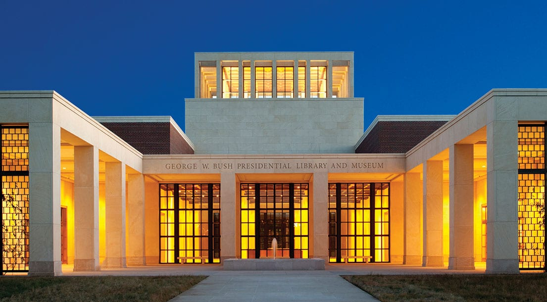 The George W. Bush Library and Museum at SMU.