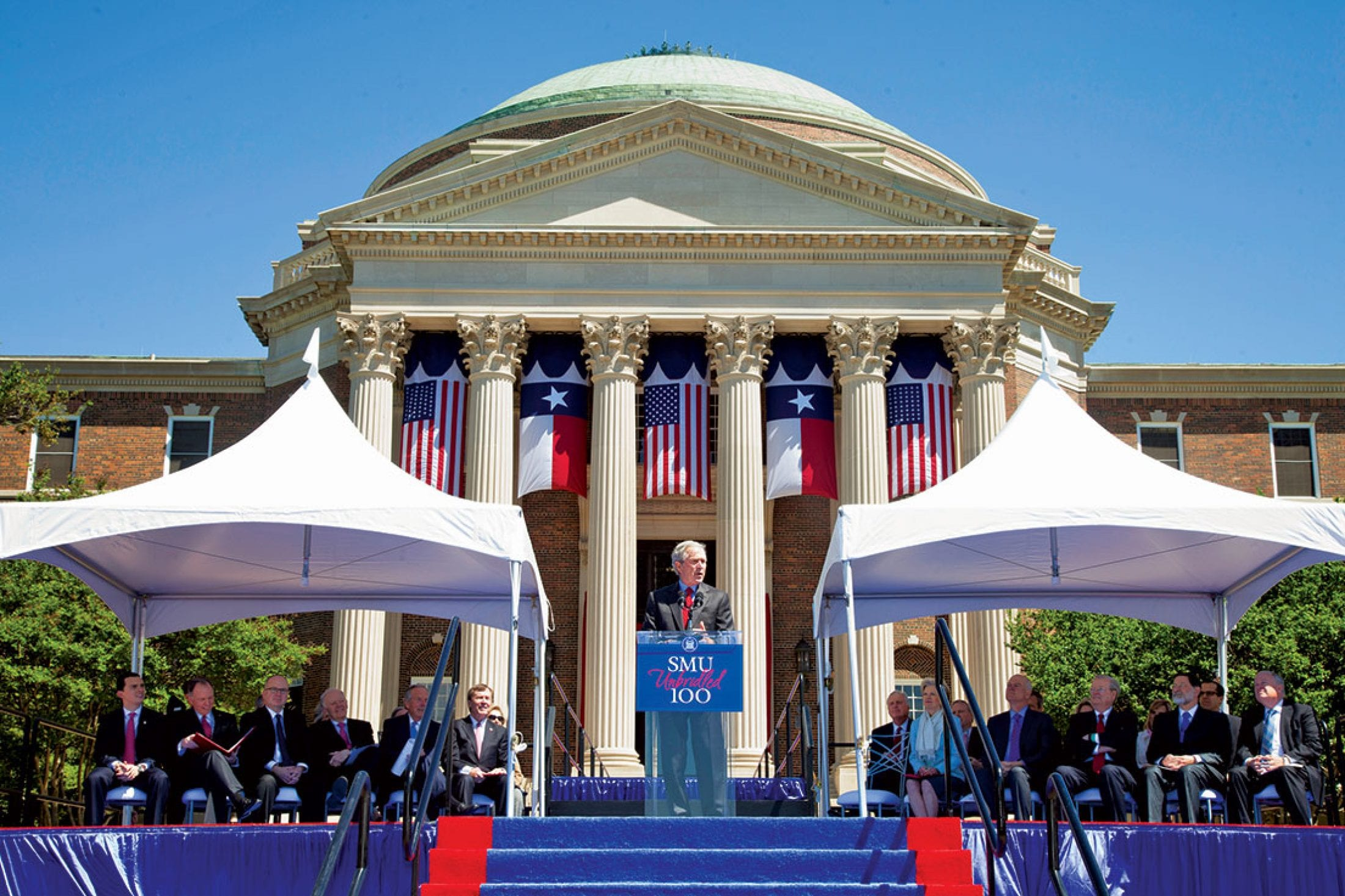 Former President George W. Bush at SMU Founders' Day Weekend 2013.