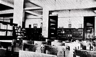 SMU's first library in Dallas Hall, 1922, SMU Archives
