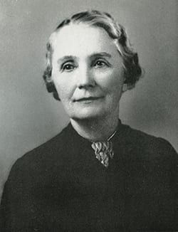 Librarian Dorothy Amann in a 1940 Rotunda yearbook photo, SMU Archives